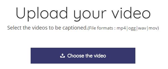 Free Captioning Tool