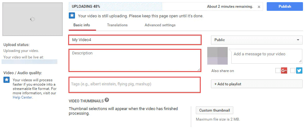 Optimise YouTube Keyword, Title, Description, and Tags