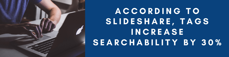 According to slideshare tags increase searchability by 30